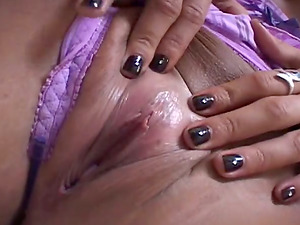 Dasani Lezian fondles her pussy and fucks in POV video