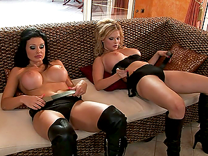 Group sex with Aletta Ocean and Tarra White