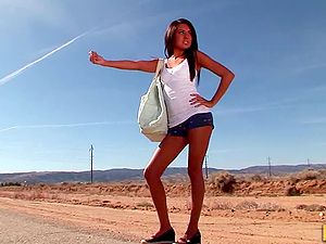 Stunning Brunette Lexi Diamond to get back to civilization