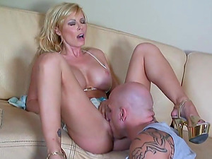 gorgeous  Blonde Gets To Suck Cock And Gets Drilled