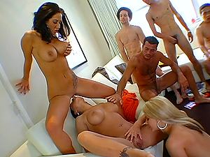 Crazy Group Sex with Three Busty Sluts