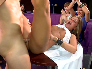 Busty Girls Suck Dick & Get Fucked on Party