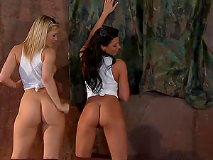 Nice Ass Whore Force Threesome With Alexis Texas and Johnny Sins