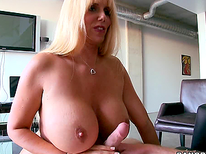 Horny Blonde Babe Drives To Better Sex