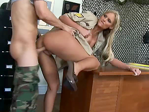 Hard-Ass Recruiting Officer Phoenix Marie Gets Drilled By a Hard Cock