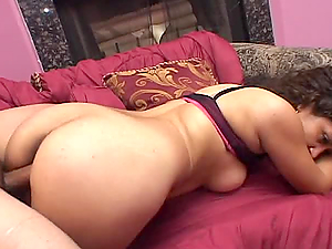 Hot Latina Marisol has sex with two guys and gets a creampie