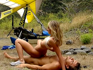MAYA GOLD GETS ALL HER HOLES SMASHED BY HER SPORTY BF OUTDOORS