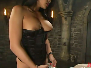 ASIAN MIKA TAN HAVING FUN DOMINATING A GUY IN BDSM FEMDOM