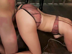 GUY FUCKS AND GETS STRAPON FUCKED IN BDSM FEMDOM THREESOME