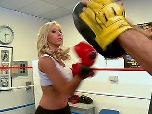 JESSICA LYNN IS A SEXY BLONDE BOXER AND SHE WANTS A ROUND WITH JORDAN ASH