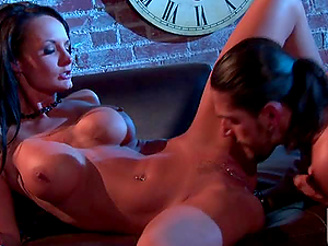 HARDCORE SEX FOR SLUTTY BRUNETTE ALEKTRA BLUE IN CLOCK ROOM